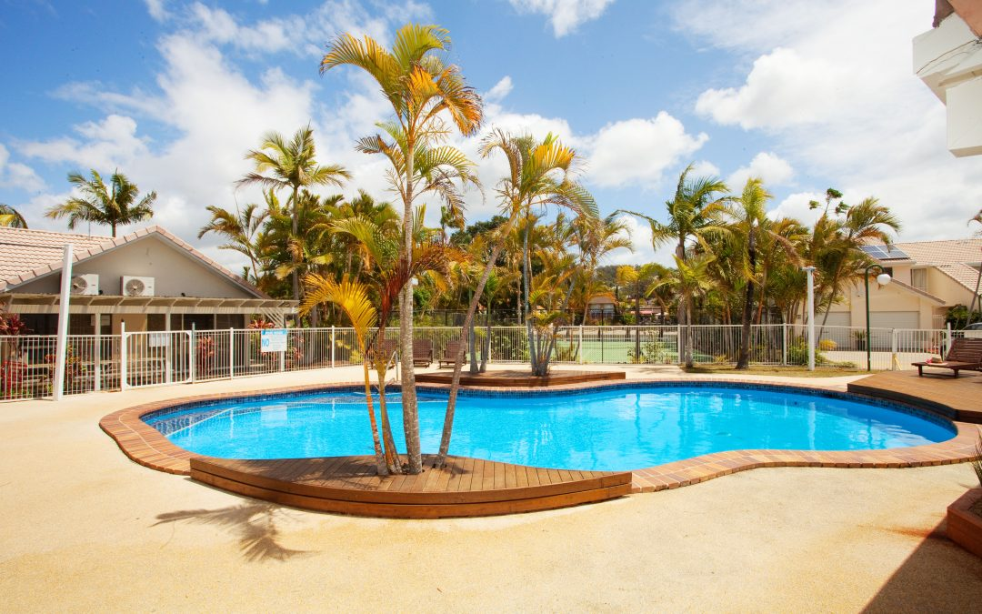 Experience year-round tropical setting at our swimming pools